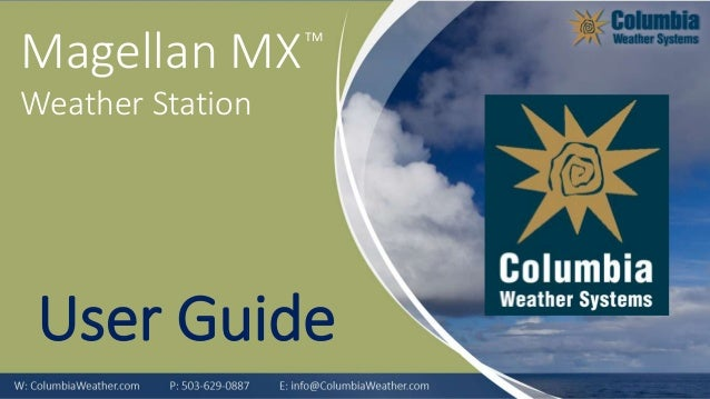 TM Magellan MX Weather Station User Guide