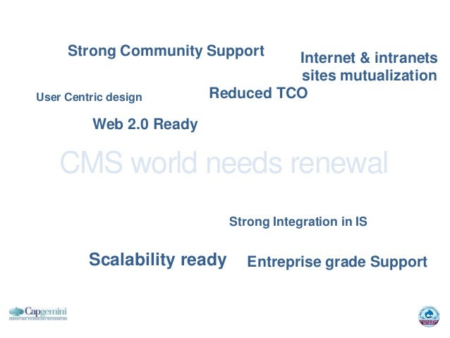 Strong Community Support       Internet & intranets                                    sites mutualizationUser Centric des...