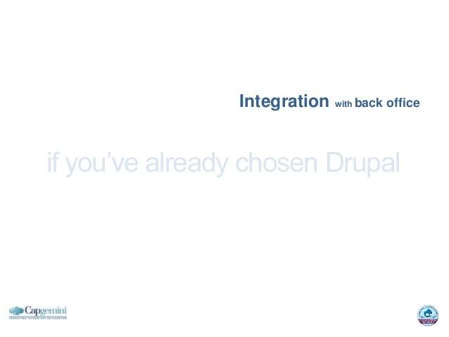 Integration with back officeif you've already chosen Drupal