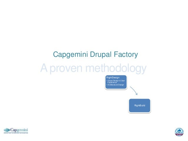 Capgemini Drupal FactoryA proven methodology                         RightDesign                         • Visual Design &...