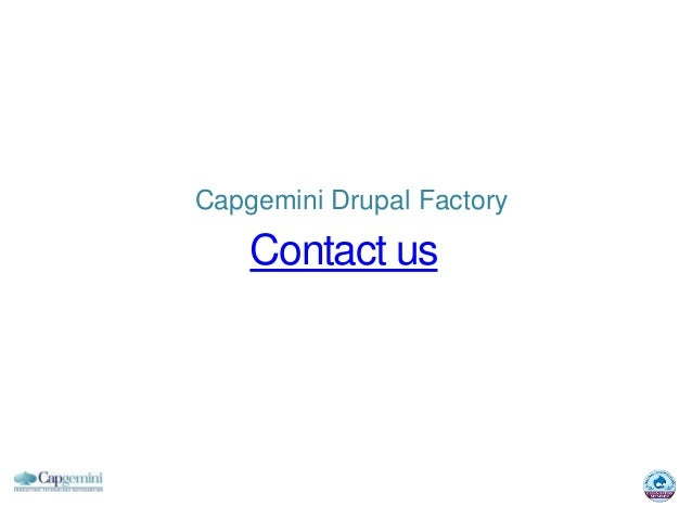 Capgemini Drupal Factory    Contact us