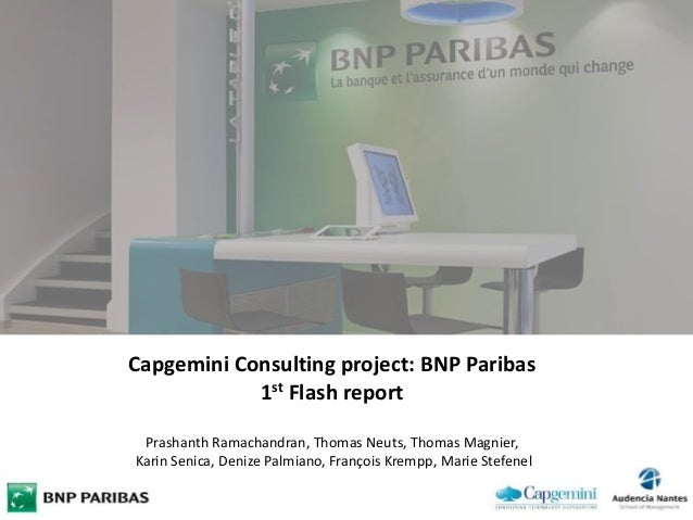 flash report for capgemini consulting