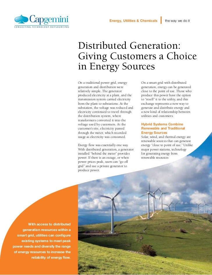 Energy, Utilities & Chemicals          the way we do it                                         Distributed Generation:   ...