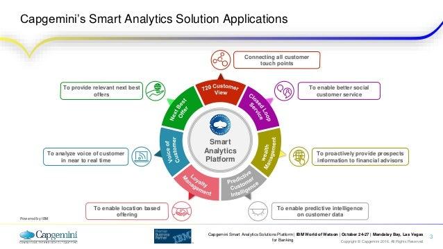 capgemini smart analytics solutions platform  banking