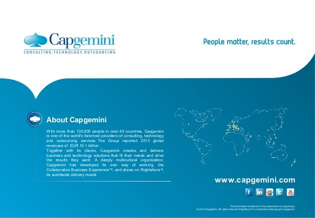 www.capgemini.com  The information contained in this presentation is proprietary.  © 2014 Capgemini. All rights reserved. ...