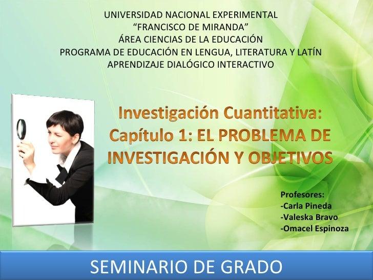 """UNIVERSIDAD NACIONAL EXPERIMENTAL """" FRANCISCO DE MIRANDA"""" ÁREA CIENCIAS DE LA EDUCACIÓN PROGRAMA DE EDUCACIÓN EN LENGUA, L..."""