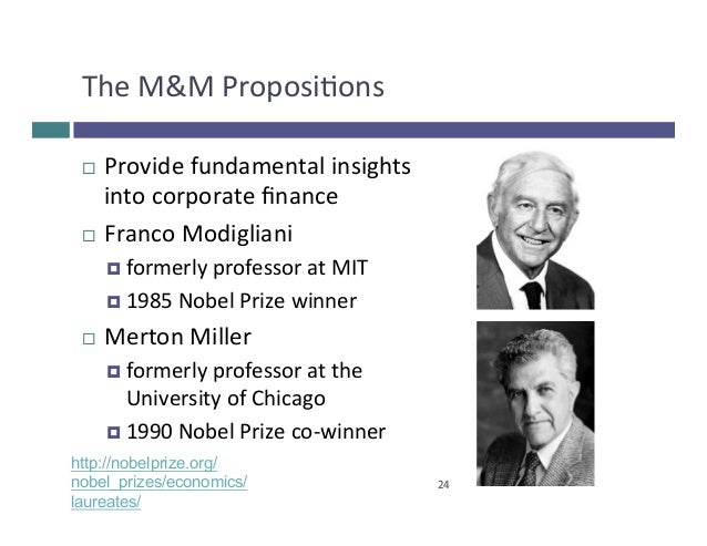 the miller and modigliani capital structure irrelevance theorem finance essay Category: business finance title: miller and modigliani capital structure   paper shows that these results are most consistent with market timing theory   the proportions of debt usage is completely irrelevant to the individual firm value.