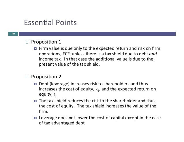 capital structure theories with diagram