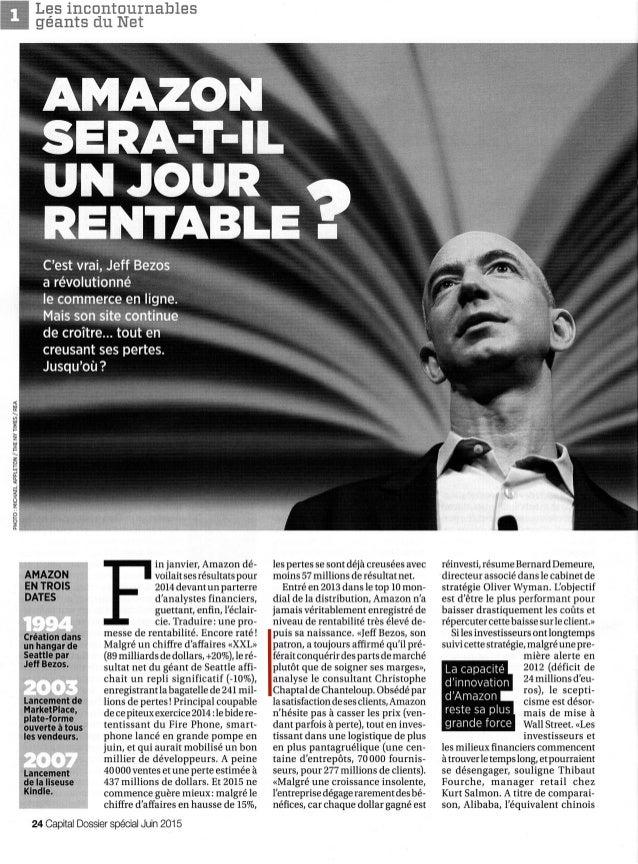 Dossier Spécial Numérique Capital | Amazon sera-t-il un jour rentable | Intervention de Christophe Chaptal de Chanteloup