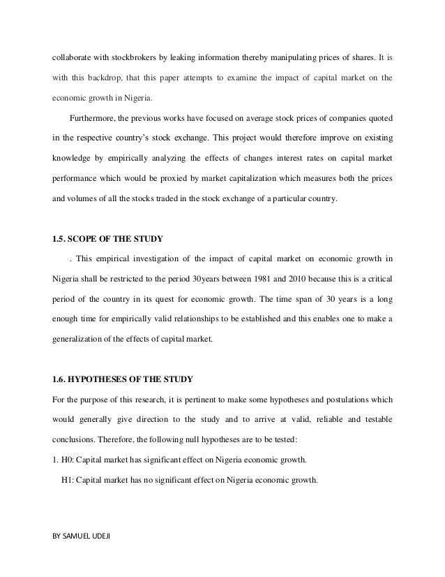 thesis work on capital market development and economic growth Phd thesis work summary puts up the initial capital or invents new products  since entrepreneurs move the market forward and drive economic growth.