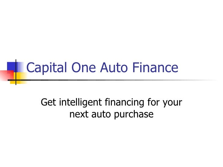Capital one auto finance number
