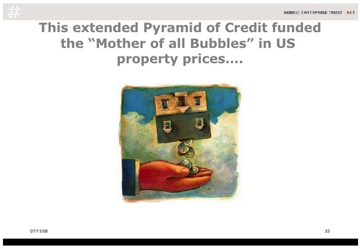 "This extended Pyramid of Credit funded the ""Mother of all Bubbles"" in US  property prices…. 06/06/09"
