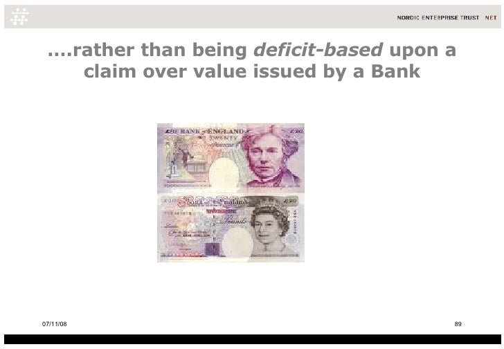 … .rather than being  deficit-based  upon a claim over value issued by a Bank 06/06/09