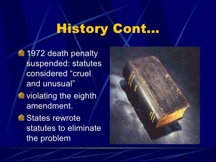history of capital punishment While australian society has conclusively rejected the practice of capital punishment, events such as the recent bali bombing have created some public discussion of the issue within our own society.