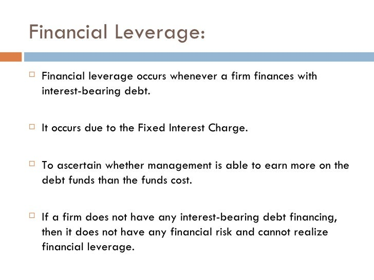 Capital Structure Amp Financial Leverage Analysis Of