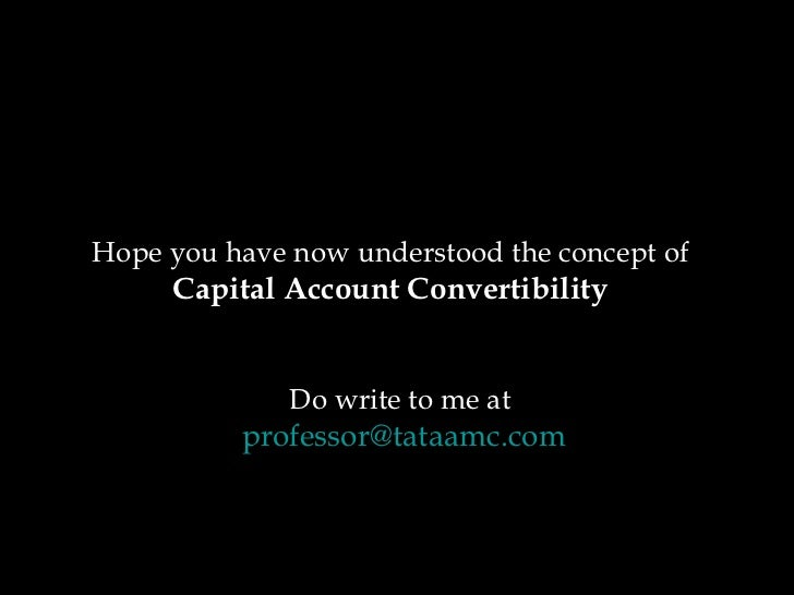 Whats capital account convertibility