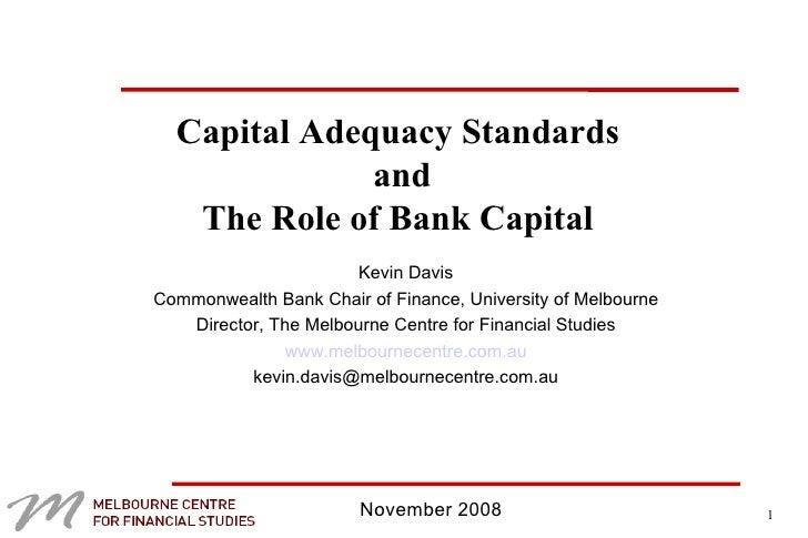 Capital adequacy essay