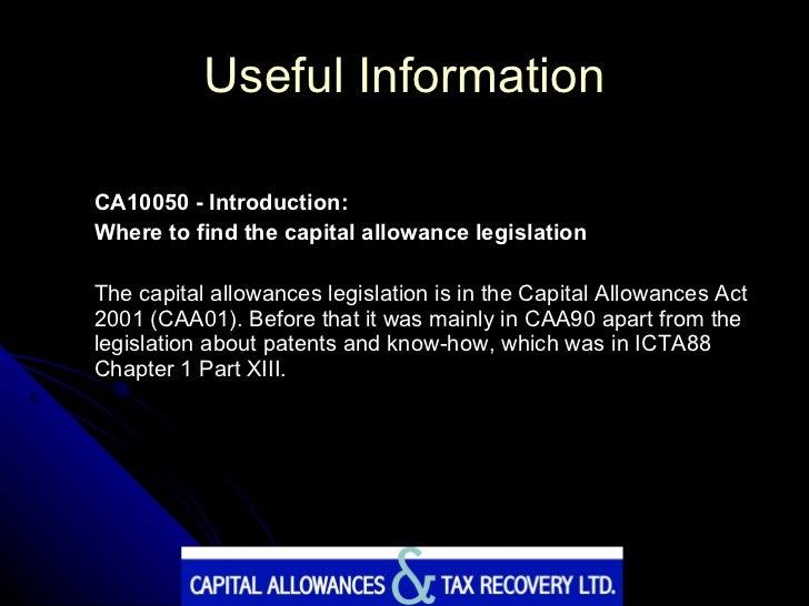capital allowances act 2001