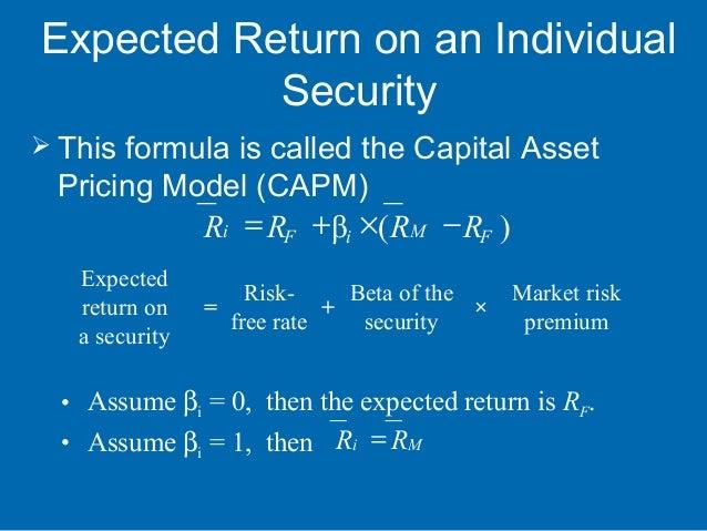 Understanding the Security Market Line