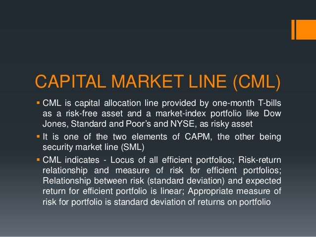 the capital market line is pricing relationship between temperature