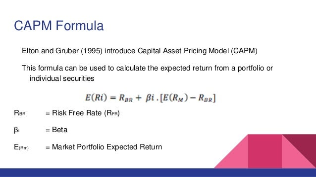 CAPM Beta – Definition, Formula, Calculate Beta in Excel