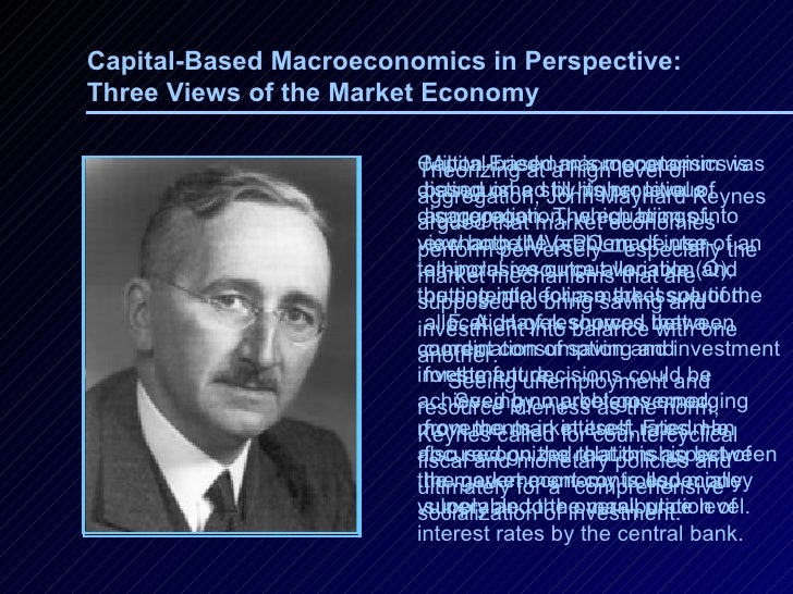 Capital-Based Macroeconomics in Perspective: Three Views of the Market Economy   Theorizing at a high level of aggregation...