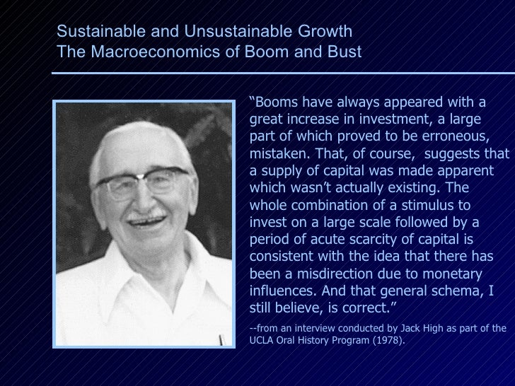 """"""" Booms have always appeared with a great increase in investment, a large part of which proved to be erroneous, mistaken. ..."""