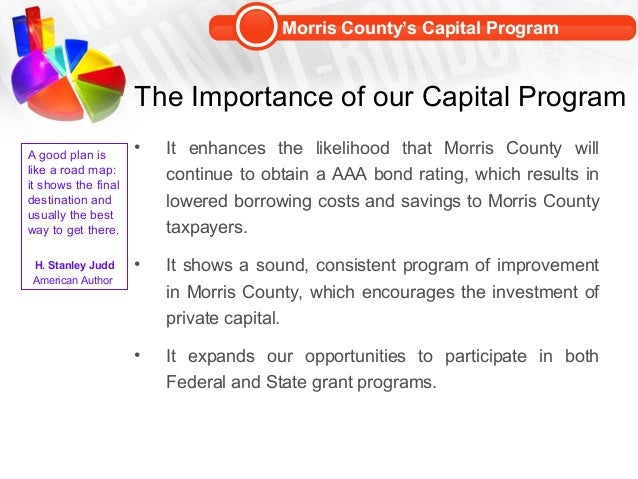 budget analysis capital improvement program