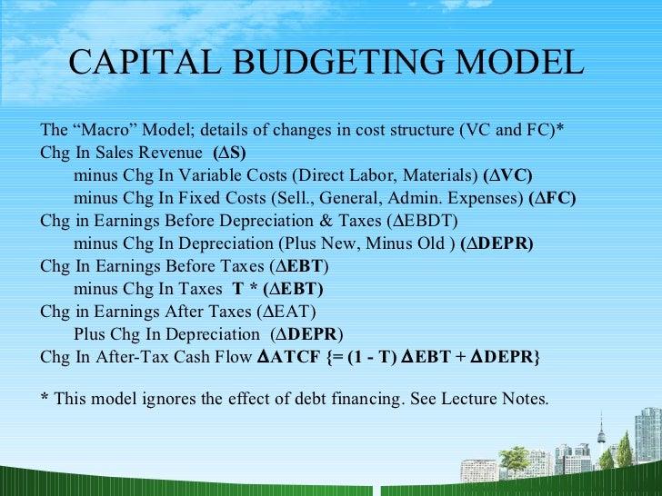 capital budgeting case 4 essay