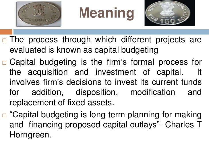 differentiate among the various capital budget evaluation techniques Non-financial analysis in project appraisal – an  aspects into consideration when considering capital budgeting decisions  different techniques according to .