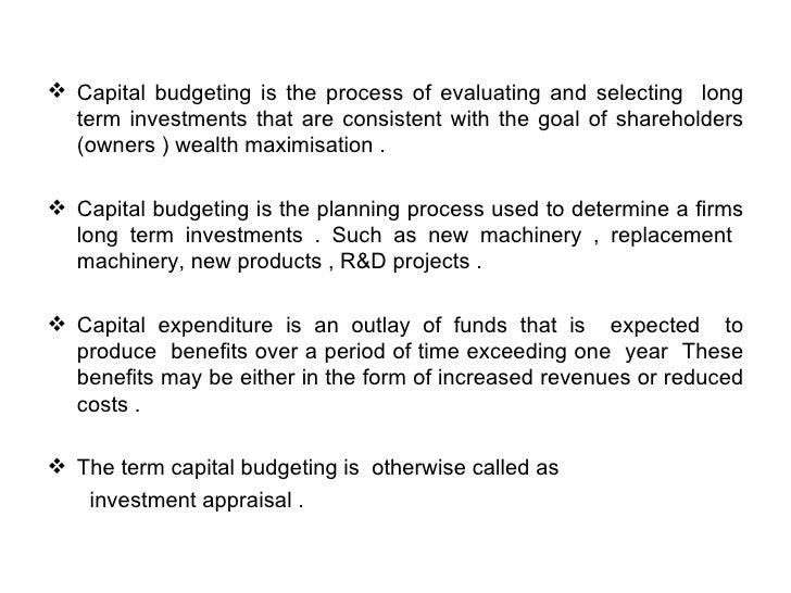 capital budgeting in zimbabwe essay - some of the commonly used budgets include (a) the operating budget, (b) the cash budget, (c) the operating budget, and (d) the capital budgeting (buchbinder & shanks,2007,p226) capital budgeting is the most expensive in contrast to the other budgets because the operating costs goes beyond the traditional calendar or annual budget.