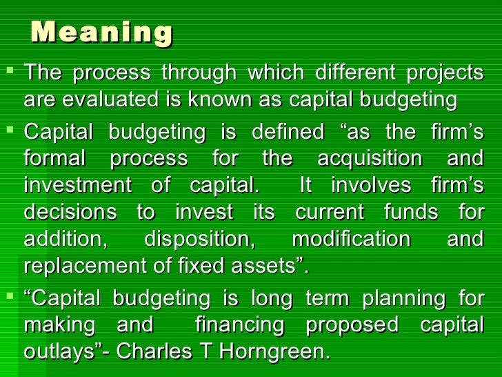Capital budgeting indian case study