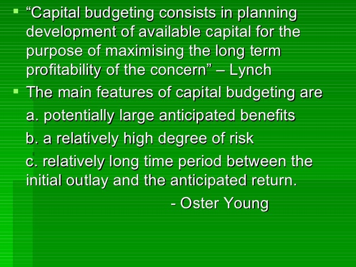 capital budgeting in mnc Mnc capital budgeting begins with an identification of the initial capital required for the project the next step is to estimate the future cash inflows and outflows over the investment horizon as well as the estimation of the.
