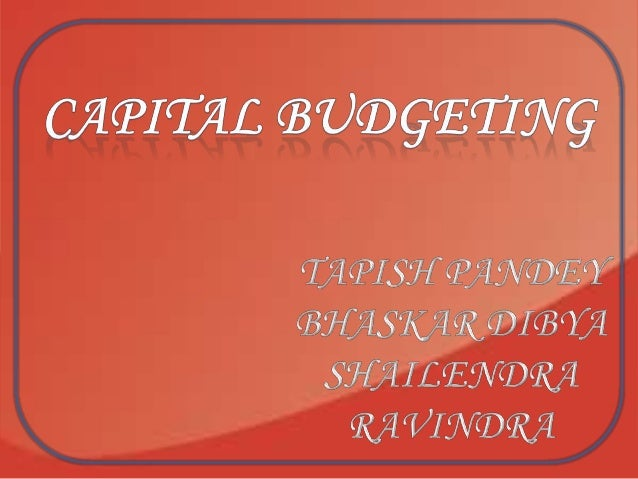 The term capital budgeting means planning for capital assets. A capital budgeting decision may also be defined as the firm...