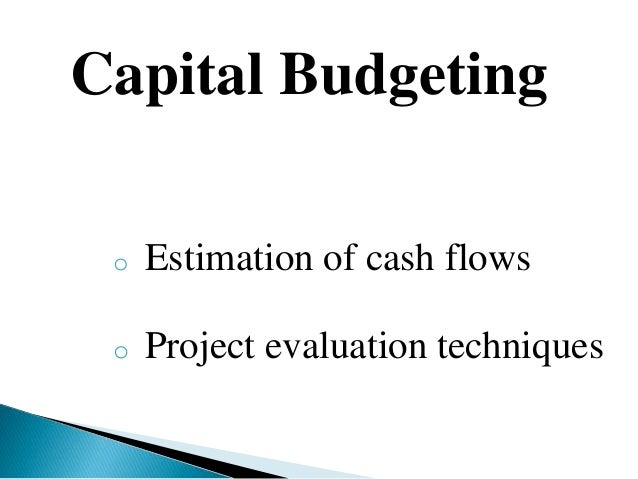 various techniques of capital budgeting Capital budgeting techniques are related to investment in fixed assets fixed assets are that portion of balance sheets which are long term in nature cft = cash flows taking place at various time periods which are figured as $ 180,000 in the first year and $ 300,000 in the second year.