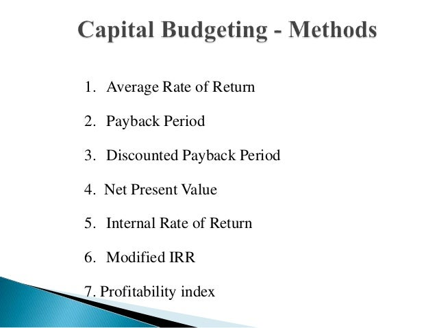 capital budgeting payback period npv In this module, you will study the three most popular capital budgeting techniques  in practice: net present value (npv), payback period, and.