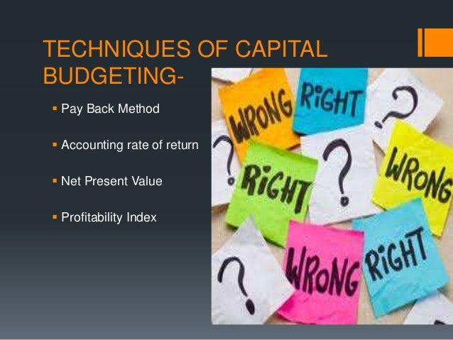 capital budgeting techniques notes