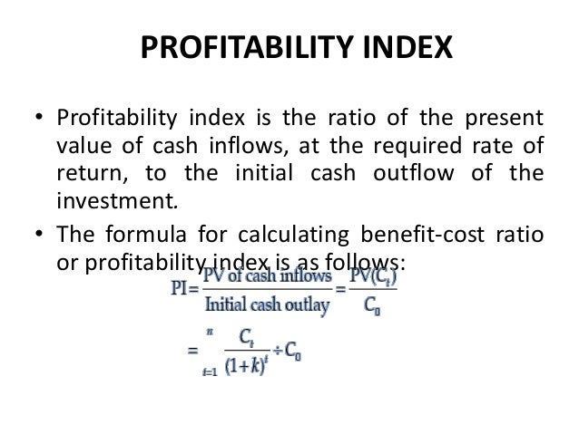 Calculating Profitability Index of a Project