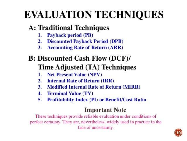 Capital budgeting techniques case studies