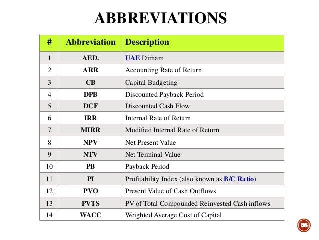 Profitability Index Calculation