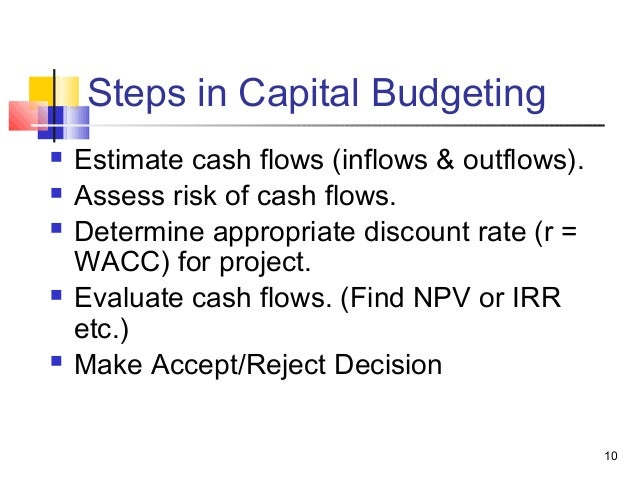5 describe the four 4 steps of capital budgeting analysis Capital budgeting: net present value and cash flow analysis the solution gives detailed steps on solving some questions on the topic of net  no dividends, but it was sold for $160,000 at the end of four years.