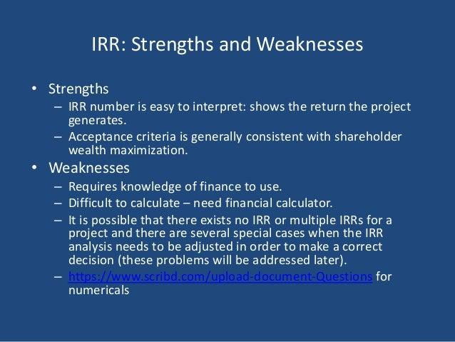 Capital budgeting decision criteria