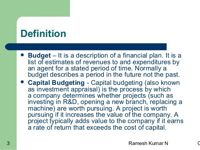 review of capital budgeting
