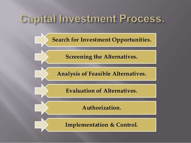 capital budgeting decisions Capital budgeting, and investment appraisal, is the planning process used to determine whether an organization's long term investments such as new machinery, replacement of machinery, new plants, new products, and research development projects are worth the funding of cash through the firm's capitalization structure (debt, equity or retained earnings.