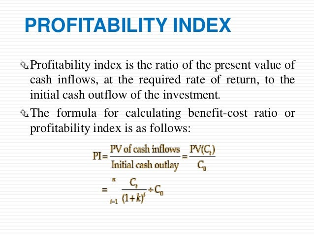 Calculating Profitability Index for a project?