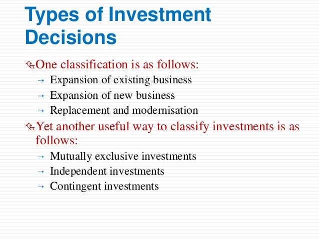 Investment decision ppt