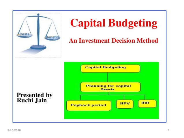 Thesis capital budgeting decision