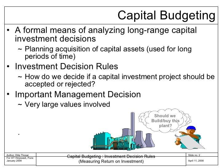 Capital Budgeting Rules 04 Slide 2