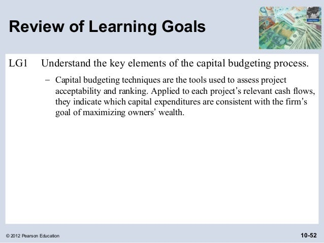 what are the elements of the capital budgeting process Budgeting process budgets are often met with much hesitation often times, managers feel that the process is often too long and really does not help them run their.