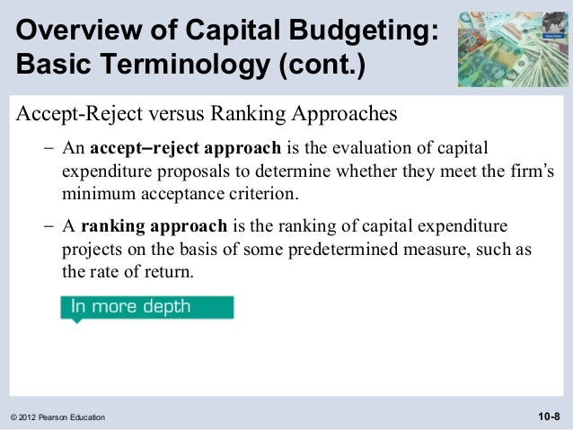 various methods of evaluation of capital budgeting proposals
